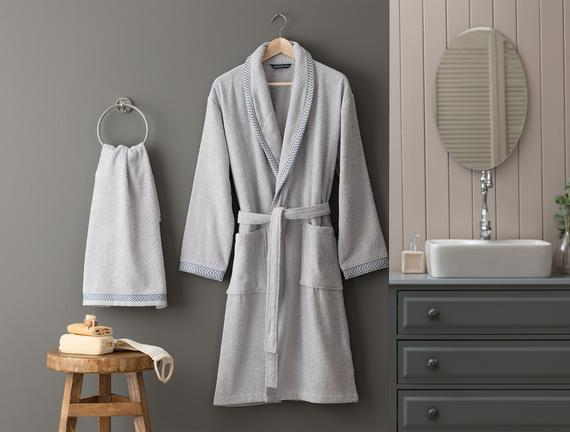 Madame Coco - Collar Men's Bathrobe Set (β)