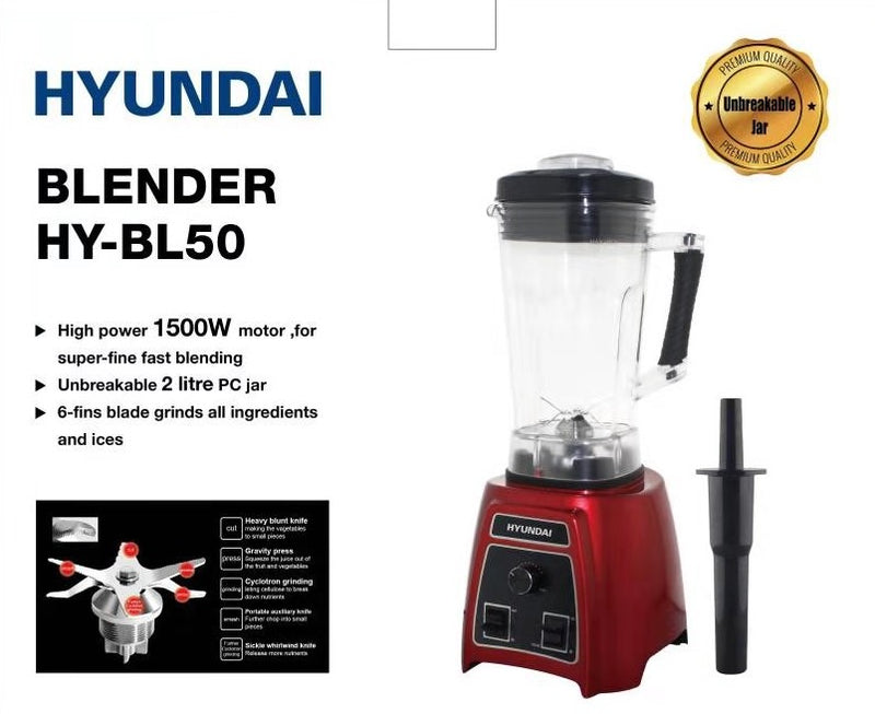 Hyundai - Blender (1500W - 2L) + FREE Steam Iron I-30