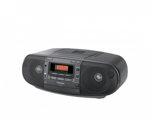 Panasonic - CD Radio Cassette Recorder (90W)