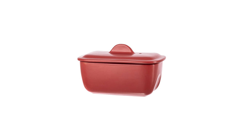 Pyrex - Red Form-Terrin Curves With Lid  17Cm (17Cm)