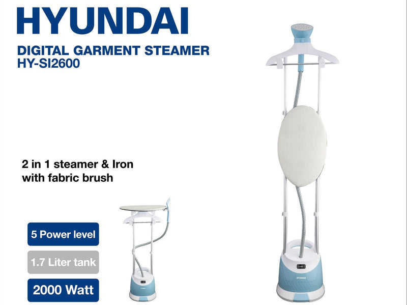Hyundai - Digital Garment Steamer (1.7 L - 2000W) (β)