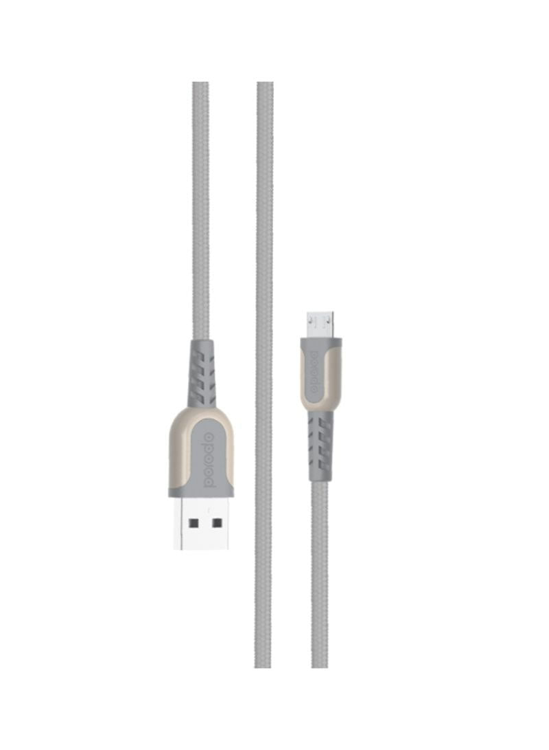 Porodo - Metal Braided Micro Usb Cable (Grey) (β)