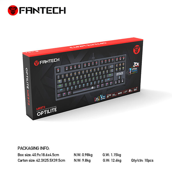 Fantech Mk872 Optilite Mechanical Keyboard (β)