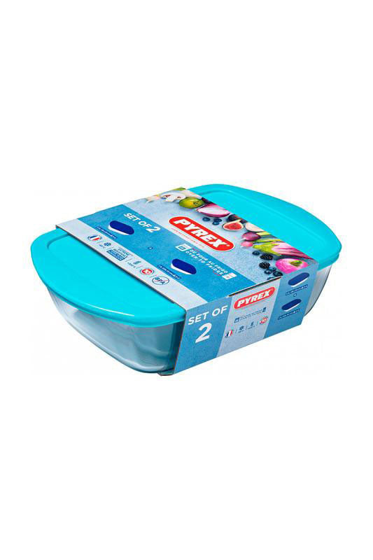 Pyrex - Rectangular Storage Dish Set Of 2 (1.1 - 2.5L)