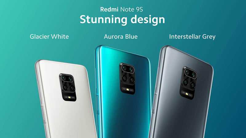 Redmi - Note 9s (6G/128G) + FREE Back Cover & Screen Protector
