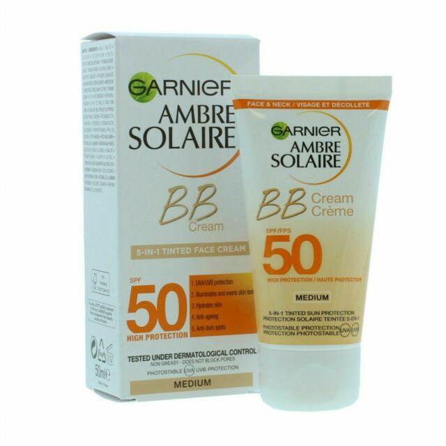 Garnier - Ambre Solaire BB Cream 5-In-1 Tinted Face Cream (Medium / 50Ml) (β)