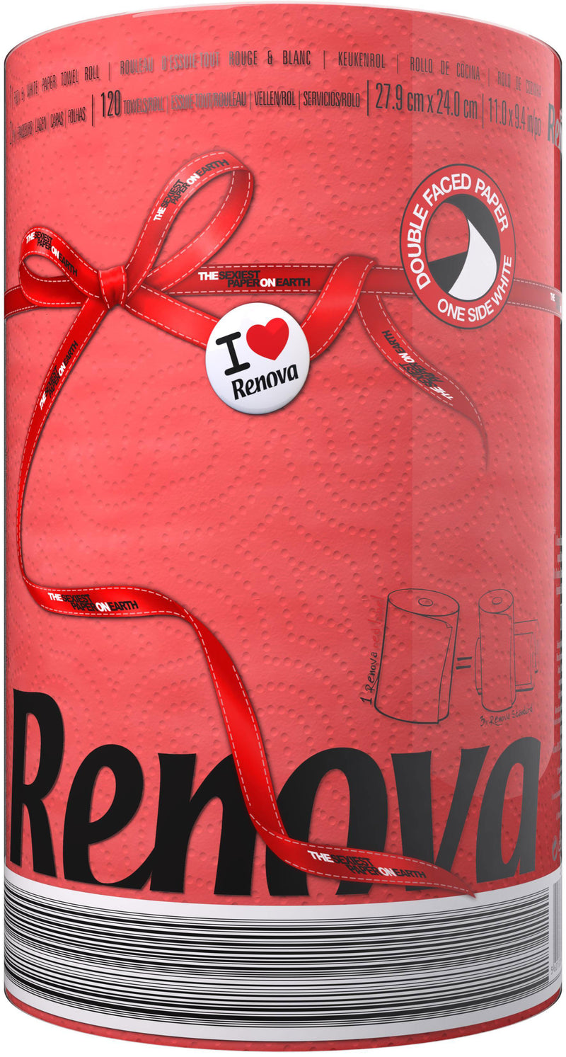 Renova - Red Lable Kitchen Towel -Red (尾)