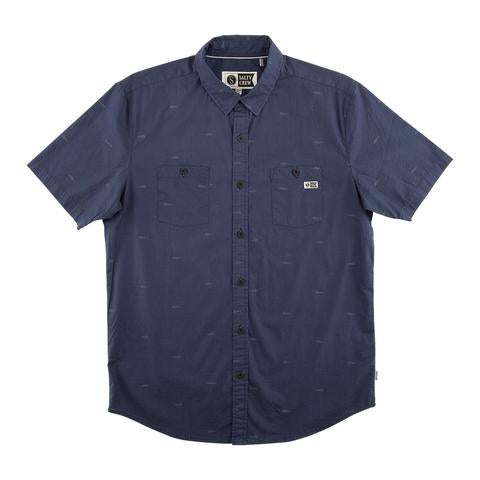 Fish Pin Short Sleeve Woven Shirt