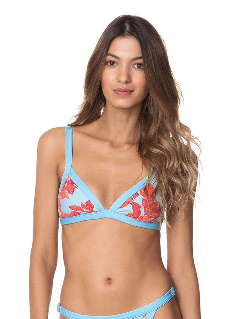 Maaji Cloud Blue Hyacinth Triangle Bikini Top