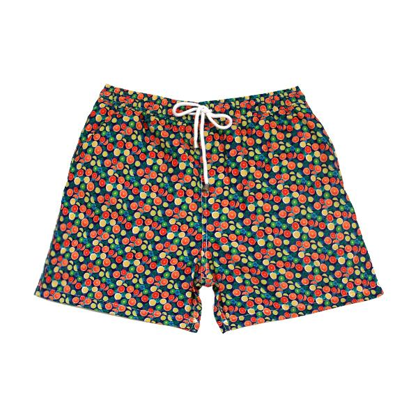 Fruits Swim Trunks- Blue