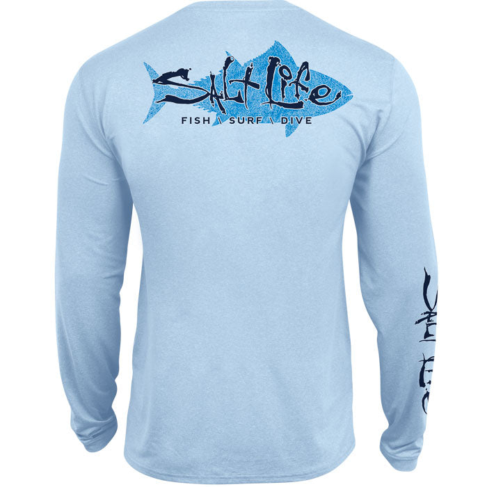 Saltwater Tuna Long Sleeve Performance Pocket Rashguard