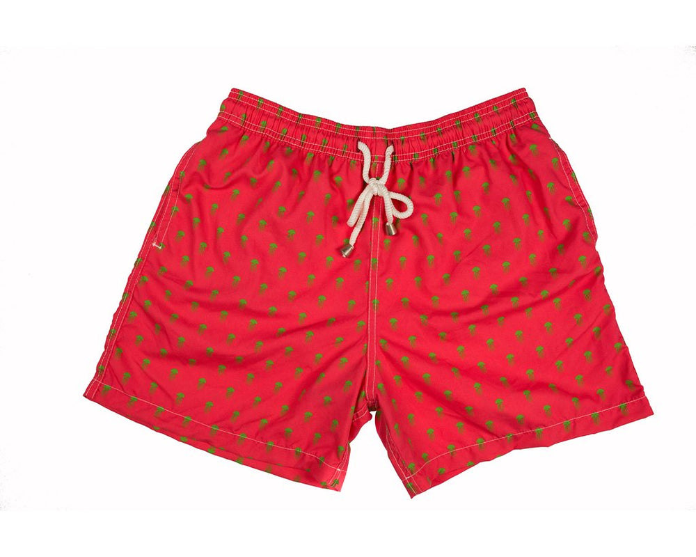 Medusa Swim Trunks- Fuschia