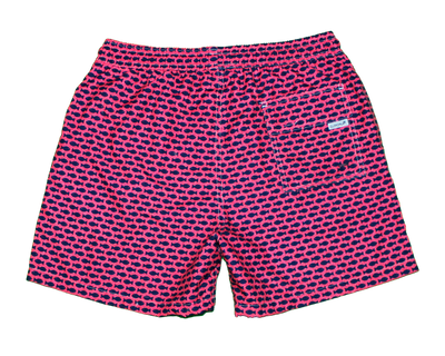 Peces Kids Swim Trunks- Fuschia