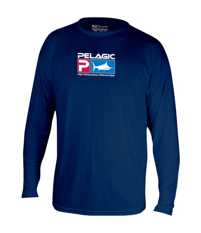 Aquatek Navy Long Sleeve Shirt