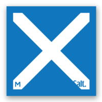 M - Flag Sticker