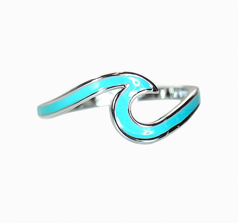 Enameled Wave Ring