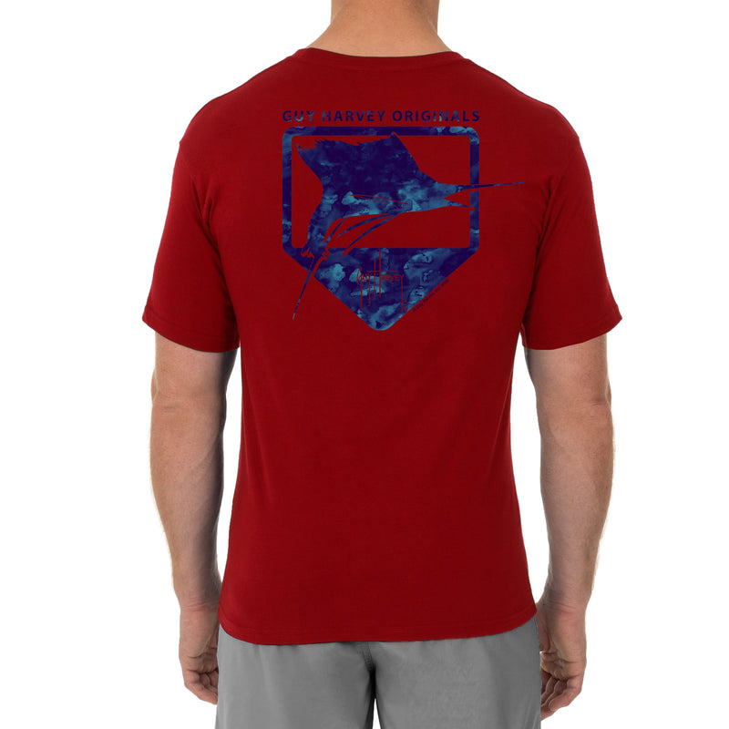 Water Shield Short Sleeve Red T-Shirt