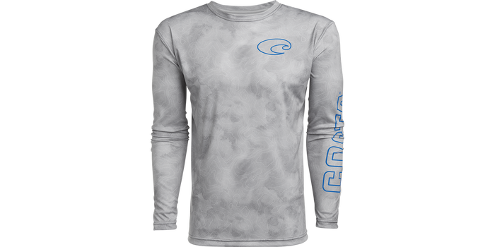 Tech Topographic Long Sleeve Shirt
