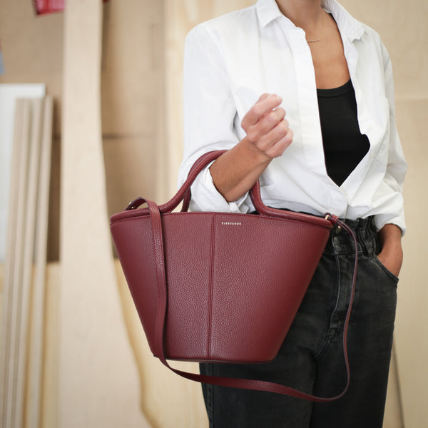 Classic Tote - Bordeaux Pebble Sale (ONLY 1)