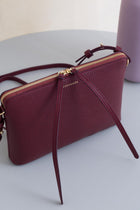 Top Zipper Bag - Bordeaux Pebble Sale (ONLY 2)
