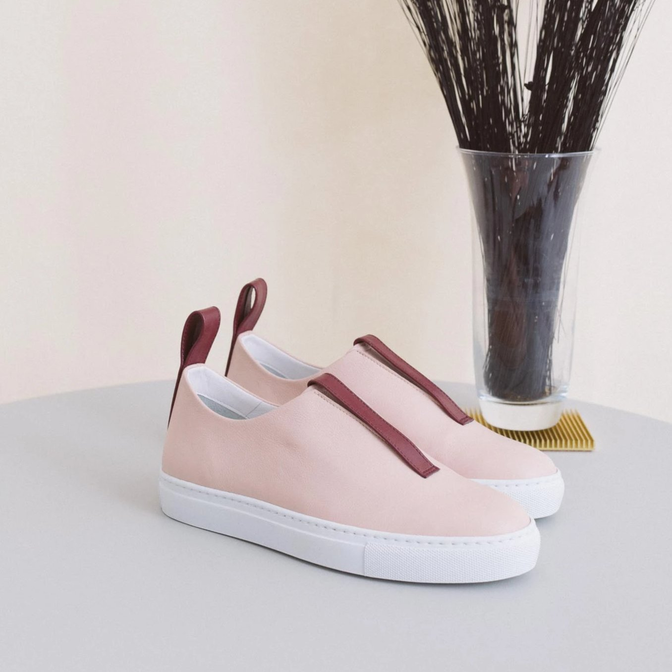 Sneakers Model 2 - Nude & Burgundy Sale (SOLD OUT)