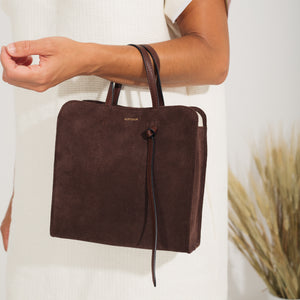 Knot Bag - Caoba Suede (Flash Sale)