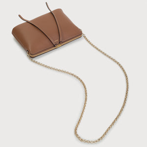 Top Zipper Bag - Saddle Tan