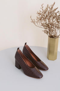 Pumps - Brown Croco (ONLY 1)