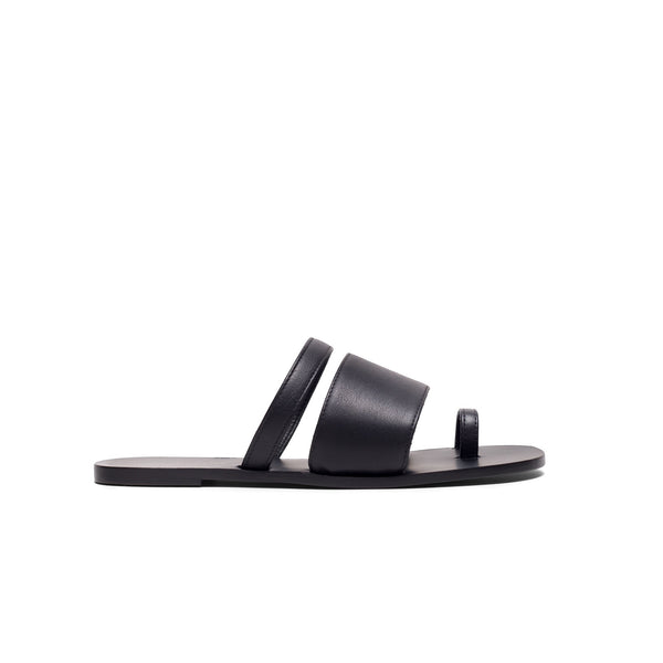 Agatha Nappa Slides - Black