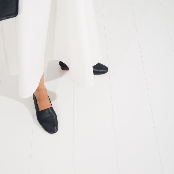 Sophia Nappa Slipper - Black