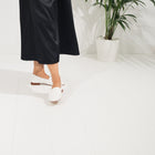 Sophia Nappa Slipper - White