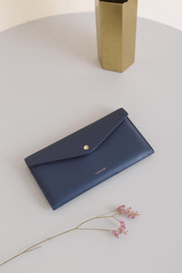 Edna Passport Wallet - Navy Blue