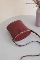 Perla Bucket - Bordeaux Pebble