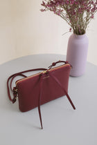 Top Zipper Bag - Bordeaux Pebble