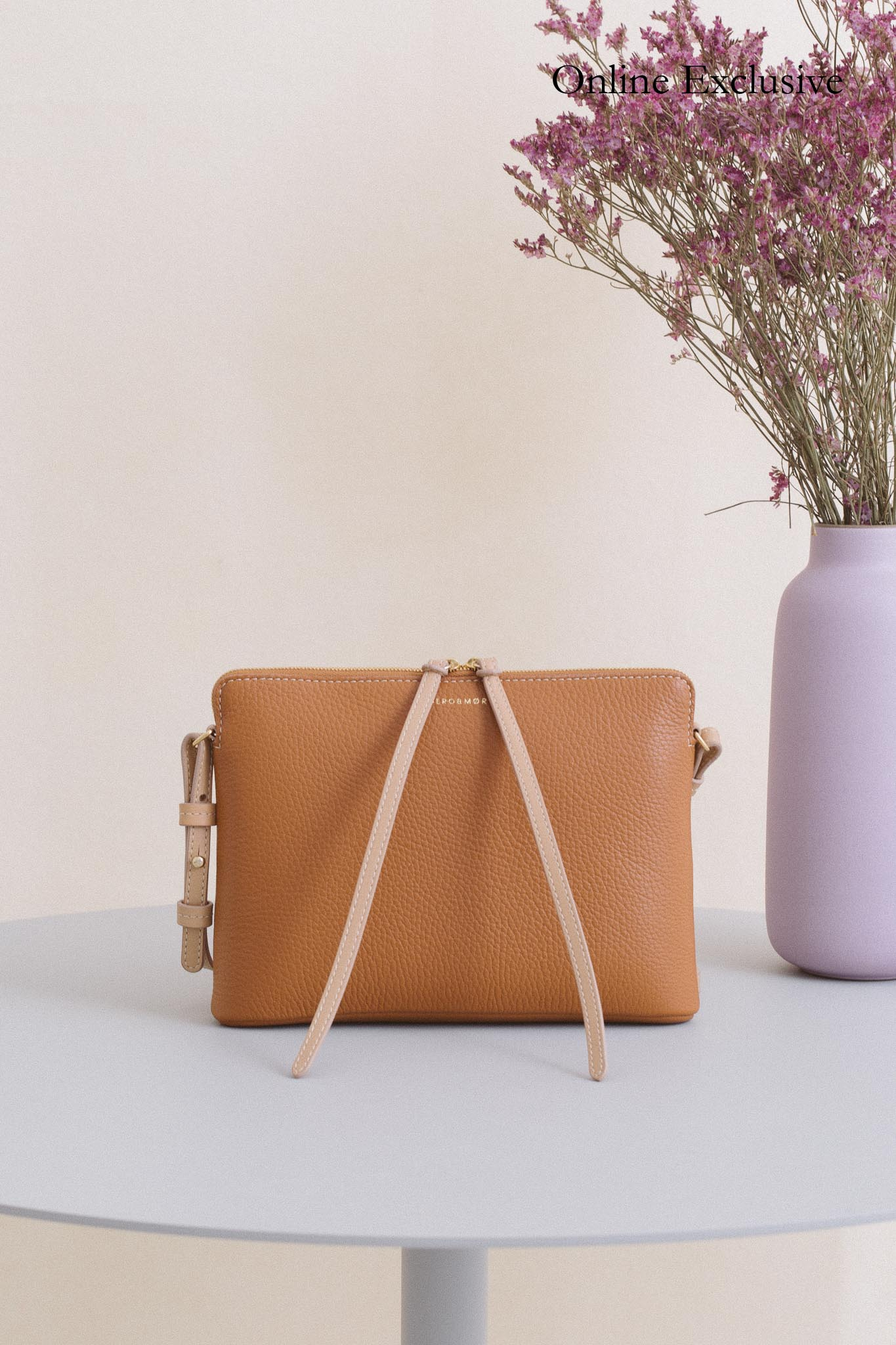 Top Zipper Bag - Camel Pebble