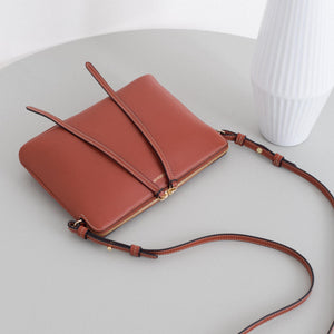 Top Zipper Bag - Cognac