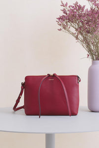 Top Zipper Bag - Red Wine