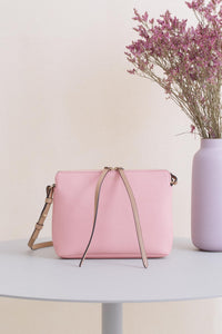 Top Zipper Bag - Rose & Cappuccino