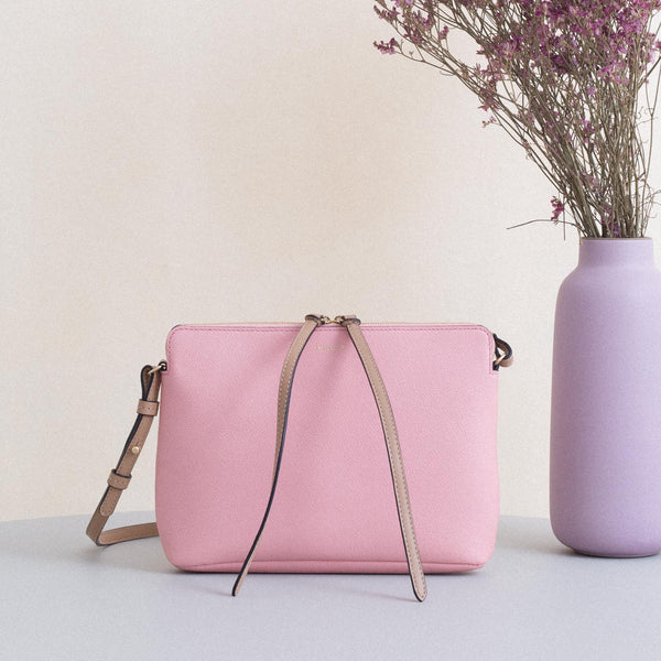 Top Zipper Bag - Rose & Cappuccino Sample (only 1)