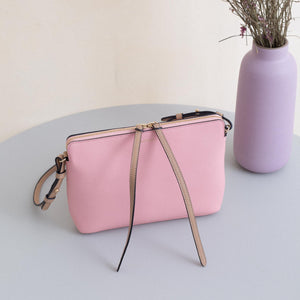 Top Zipper Bag - Rose&Cappuccino (ONLY 1)