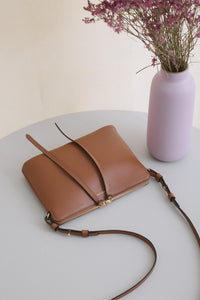 Top Zipper Bag - Saddle Tan (ONLY 1)