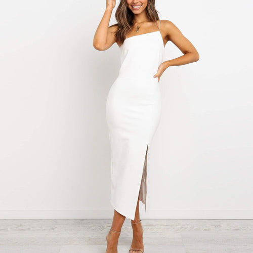 Emily Dress White - Not Your Baby Boutique