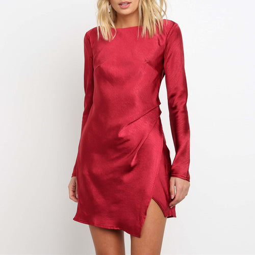 Charlotte Dress Red - Not Your Baby Boutique