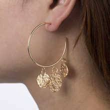 Olivier Coin Hoop Earrings Gold - Not Your Baby Boutique