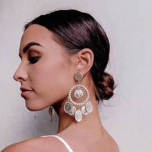 Sophia Coin Chandelier Earrings Gold - Not Your Baby Boutique