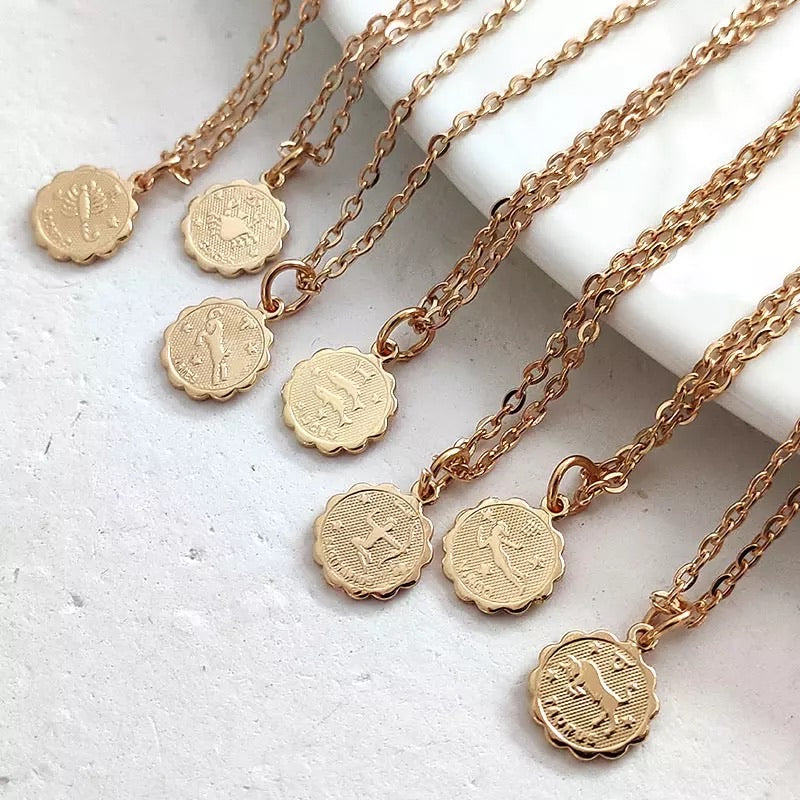 Zodiac Necklace - Not Your Baby Boutique