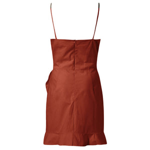 Ava Dress Burnt Orange - Not Your Baby Boutique