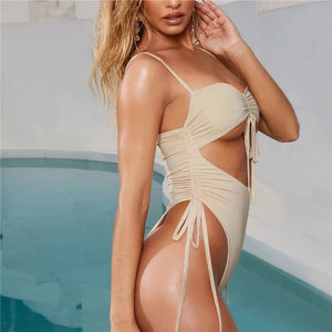 Jaya Swimsuit Beige - Not Your Baby Boutique