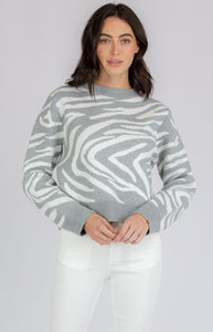 Amelia Round Neck Sweater - Not Your Baby Boutique