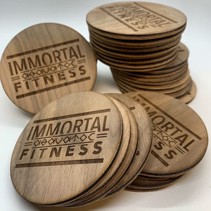 Wooden Logo Coasters